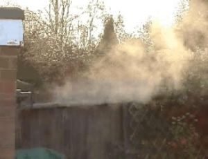Plume of Condensation from a Condensing Boiler